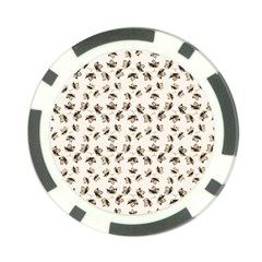 Autumn Leaves Motif Pattern Poker Chip Card Guard (10 pack)