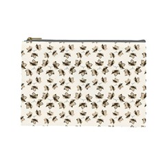 Autumn Leaves Motif Pattern Cosmetic Bag (Large)