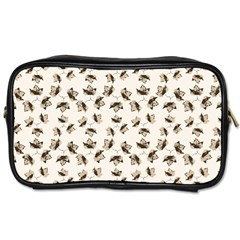 Autumn Leaves Motif Pattern Toiletries Bags 2-Side