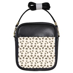 Autumn Leaves Motif Pattern Girls Sling Bags