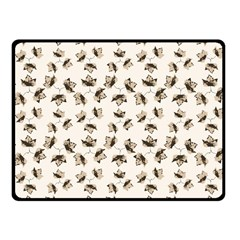 Autumn Leaves Motif Pattern Fleece Blanket (Small)