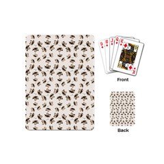 Autumn Leaves Motif Pattern Playing Cards (Mini)