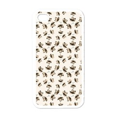 Autumn Leaves Motif Pattern Apple iPhone 4 Case (White)