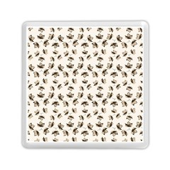 Autumn Leaves Motif Pattern Memory Card Reader (Square)