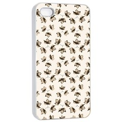 Autumn Leaves Motif Pattern Apple iPhone 4/4s Seamless Case (White)