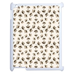 Autumn Leaves Motif Pattern Apple iPad 2 Case (White)