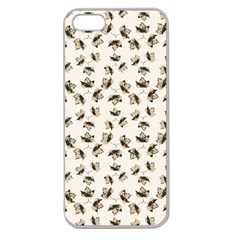 Autumn Leaves Motif Pattern Apple Seamless iPhone 5 Case (Clear)