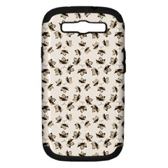 Autumn Leaves Motif Pattern Samsung Galaxy S III Hardshell Case (PC+Silicone)