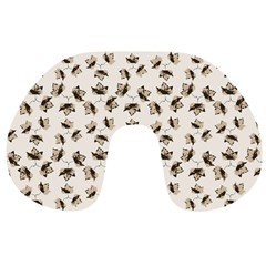 Autumn Leaves Motif Pattern Travel Neck Pillows