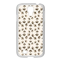 Autumn Leaves Motif Pattern Samsung GALAXY S4 I9500/ I9505 Case (White)