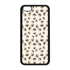Autumn Leaves Motif Pattern Apple iPhone 5C Seamless Case (Black)