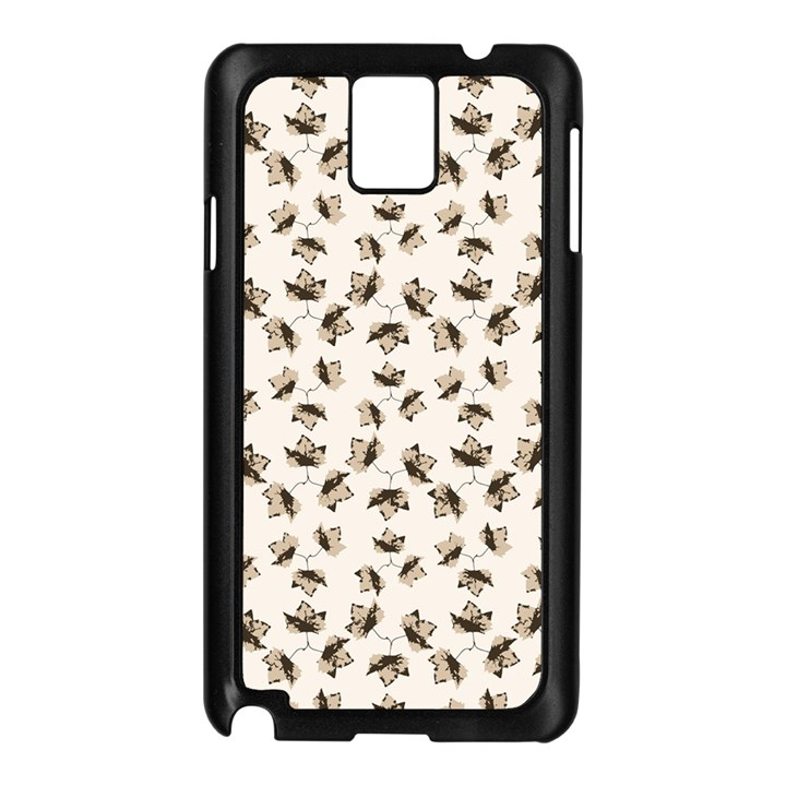 Autumn Leaves Motif Pattern Samsung Galaxy Note 3 N9005 Case (Black)