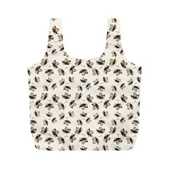 Autumn Leaves Motif Pattern Full Print Recycle Bags (M)