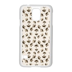Autumn Leaves Motif Pattern Samsung Galaxy S5 Case (White)