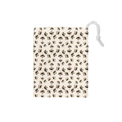 Autumn Leaves Motif Pattern Drawstring Pouches (Small)