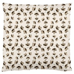 Autumn Leaves Motif Pattern Large Flano Cushion Case (One Side)