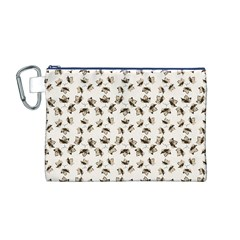 Autumn Leaves Motif Pattern Canvas Cosmetic Bag (M)