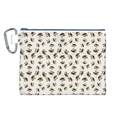 Autumn Leaves Motif Pattern Canvas Cosmetic Bag (L)