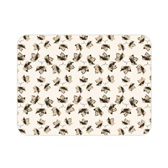 Autumn Leaves Motif Pattern Double Sided Flano Blanket (Mini)