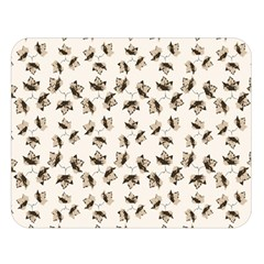 Autumn Leaves Motif Pattern Double Sided Flano Blanket (Large)