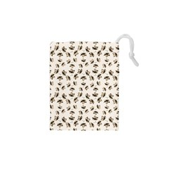 Autumn Leaves Motif Pattern Drawstring Pouches (XS)