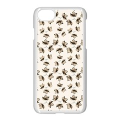 Autumn Leaves Motif Pattern Apple iPhone 7 Seamless Case (White)