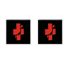 Sign Health Red Black Cufflinks (Square)