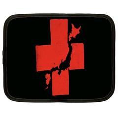 Sign Health Red Black Netbook Case (XXL)