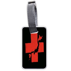 Sign Health Red Black Luggage Tags (One Side)