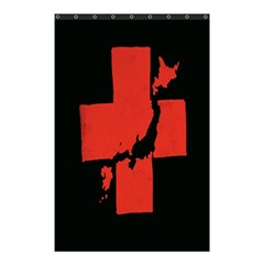 Sign Health Red Black Shower Curtain 48  x 72  (Small)