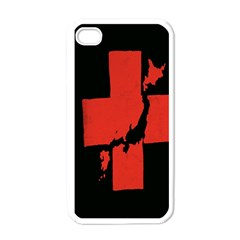 Sign Health Red Black Apple iPhone 4 Case (White)