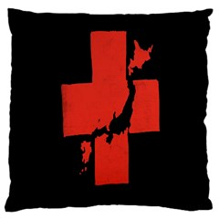 Sign Health Red Black Large Cushion Case (Two Sides)
