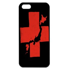 Sign Health Red Black Apple iPhone 5 Seamless Case (Black)