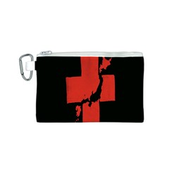 Sign Health Red Black Canvas Cosmetic Bag (S)