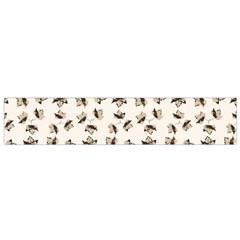 Autumn Leaves Motif Pattern Flano Scarf (Small)