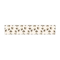 Autumn Leaves Motif Pattern Flano Scarf (Mini)
