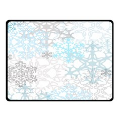 Sign Flower Floral Transparent Double Sided Fleece Blanket (Small)