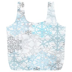 Sign Flower Floral Transparent Full Print Recycle Bags (L)