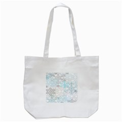 Sign Flower Floral Transparent Tote Bag (White)
