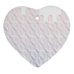 Seamless Horizontal Modern Stylish Repeating Geometric Shapes Rose Quartz Heart Ornament (Two Sides)
