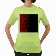 Fire Women s Green T-Shirt