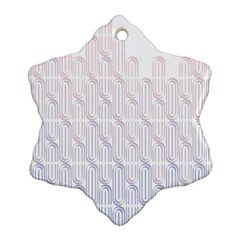 Seamless Horizontal Modern Stylish Repeating Geometric Shapes Rose Quartz Ornament (Snowflake)