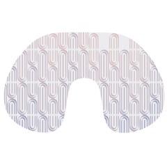 Seamless Horizontal Modern Stylish Repeating Geometric Shapes Rose Quartz Travel Neck Pillows