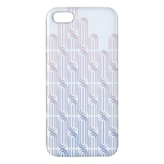 Seamless Horizontal Modern Stylish Repeating Geometric Shapes Rose Quartz Iphone 5s/ Se Premium Hardshell Case