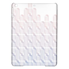 Seamless Horizontal Modern Stylish Repeating Geometric Shapes Rose Quartz iPad Air Hardshell Cases
