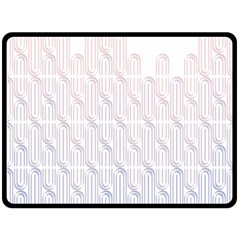 Seamless Horizontal Modern Stylish Repeating Geometric Shapes Rose Quartz Double Sided Fleece Blanket (Large)