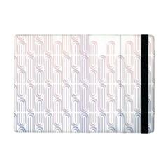 Seamless Horizontal Modern Stylish Repeating Geometric Shapes Rose Quartz iPad Mini 2 Flip Cases