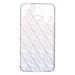 Seamless Horizontal Modern Stylish Repeating Geometric Shapes Rose Quartz Samsung Galaxy S5 Back Case (white)