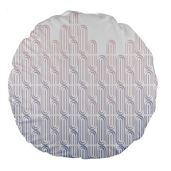 Seamless Horizontal Modern Stylish Repeating Geometric Shapes Rose Quartz Large 18  Premium Flano Round Cushions