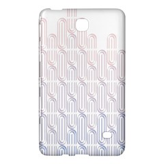 Seamless Horizontal Modern Stylish Repeating Geometric Shapes Rose Quartz Samsung Galaxy Tab 4 (7 ) Hardshell Case